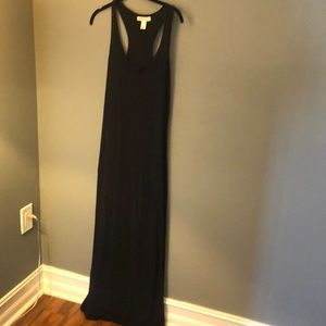 FOREVER 21 Long Solid Black Maxi Dress